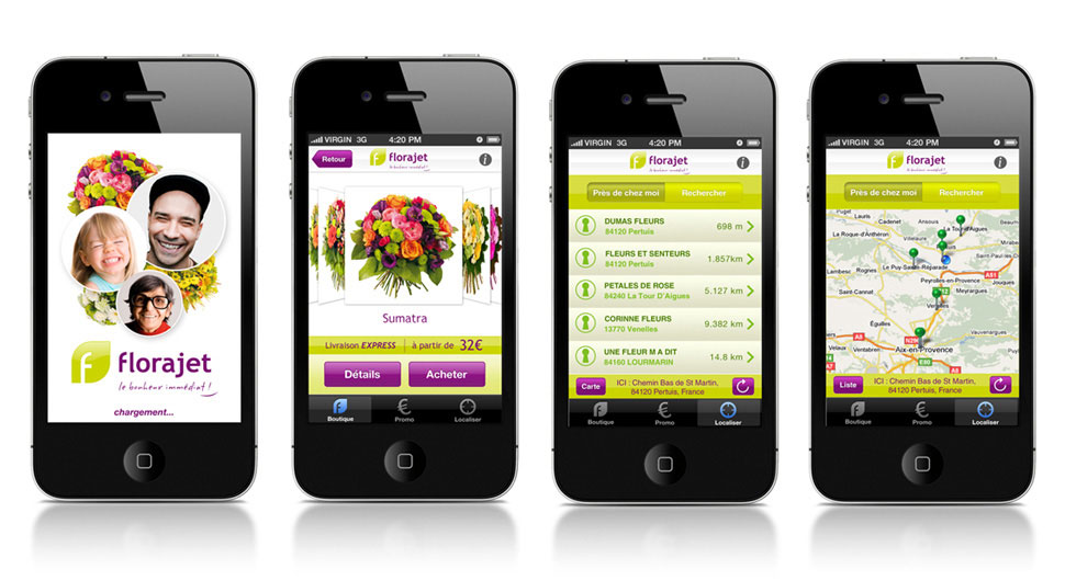 Application IPhone Florajet
