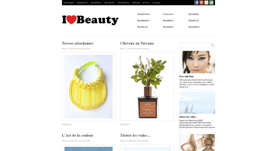 Blog www.ilovebeauty.fr