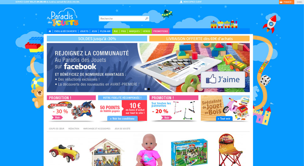 Site e-commerce www.auparadisdesjouets.com